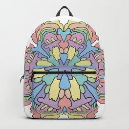 happy rainbow pastel mandala flower Backpack