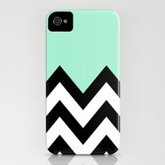 MINT GREEN COLORBLOCK CHEVRON iPhone (4, 4s) Slim Case