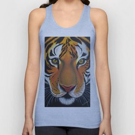 Tiger, acrylic on canvas Unisex Tank Top