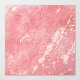 Vintage blush pink white rustic marble Canvas Print