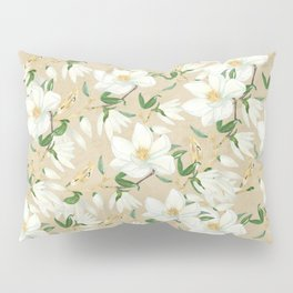 Magnolia in Bloom Pattern Pillow Sham