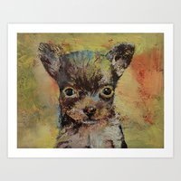 chihuahua Art Prints featuring Chihuahua by Michael Creese