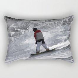 "Snowboarder ""just cruisin'"" Winter Sports Gift Rectangular Pillow"