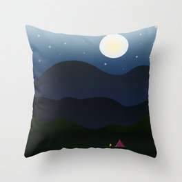 The joys of the great outdoors Throw Pillow