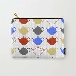 Teapot Collage Carry-All Pouch