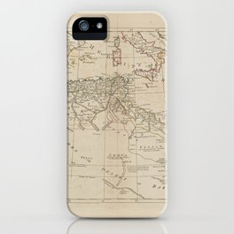 A map of Barbary, containing the Kingdoms of Marocco, Fez, Algier, Tunis and Tripoli, with the adjacent countries iPhone Case