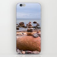 geology iPhone & iPod Skins featuring At the beach by UtArt