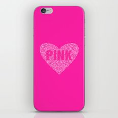 I Love Pink iPhone Skin