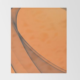 Zen Beach Orange Throw Blanket