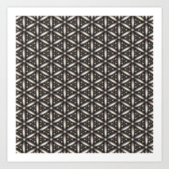 Pewter Pattern Art Print