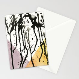 Watercolor Monoprint #1 Stationery Cards