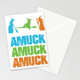 Amuck Magical Words Witches Halloween Party Shirt Stationery Cards