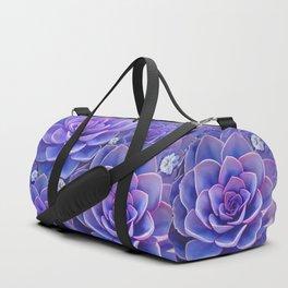 """""""Bouquet of pastel violet exotic succulents"""" Duffle Bag"""
