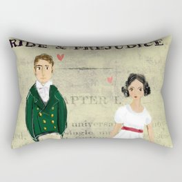 Mr.Darcy of Pemberley and Miss Bennet of Longbourn Rectangular Pillow