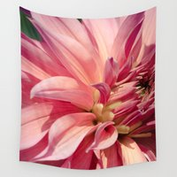 dahlia Wall Tapestries featuring Dahlia  by A Wandering Soul
