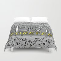 tupac Duvet Covers featuring LEGEND by irokart