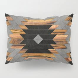 Urban Tribal Pattern 6 - Aztec - Concrete and Wood Pillow Sham