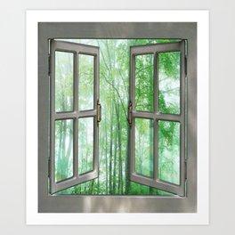 WINDOW TO NATURE Art Print