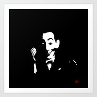 pee wee Art Prints featuring Pee-Wee  by Geni