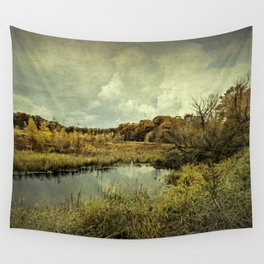 While we wait, we shine. Wall Tapestry