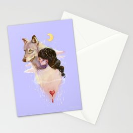 my heart is bleeding Stationery Cards