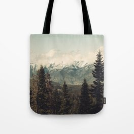 Snow capped Sierras Tote Bag