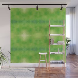 Kaleidoscopic design in soft green colors Wall Mural