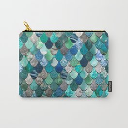 Mermaid Art, Sea,Teal, Mint, Aqua, Blue Carry-All Pouch