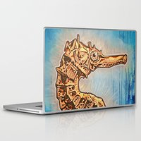sea horse Laptop & iPad Skins featuring Sea Horse by Todd Huffine
