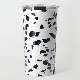Black and white Terrazzo Asteroids Travel Mug