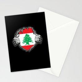 Lebanon Beirut Flag Proud Stationery Cards
