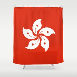 Hong Kong Flag I love HK Shower Curtain