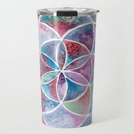 Watercolor Mandala II Travel Mug