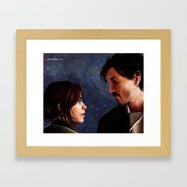 Jyn and Cassian - Rogue One - Rebel Captain painting Framed Art Print