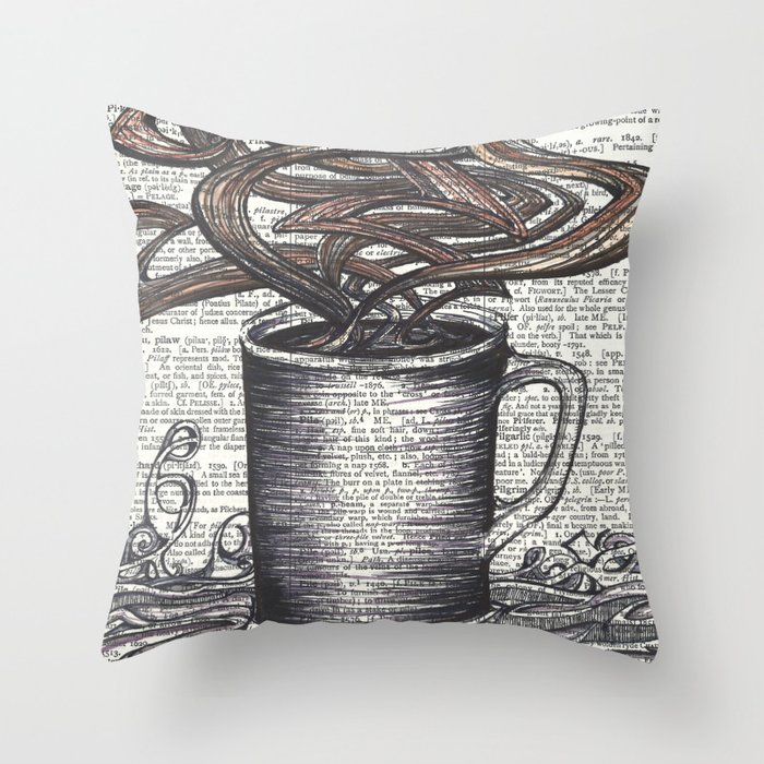 Waves of Roasted Goodness Throw Pillow