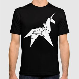 Origami Unicorn Grey T-shirt
