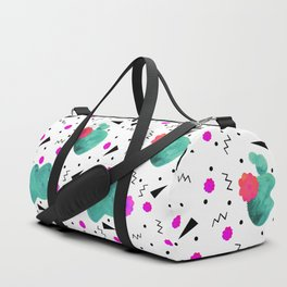 Hello Cactus White Background Duffle Bag
