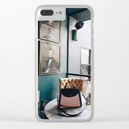 Handbags and History Clear iPhone Case