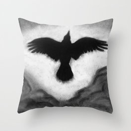 Flight of the Crow Throw Pillow