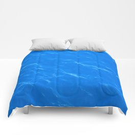 Colors of the Sea Water - Sky Blue Comforters