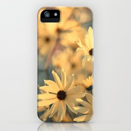 Autumn Botanical Muted Sunflowers iPhone Case