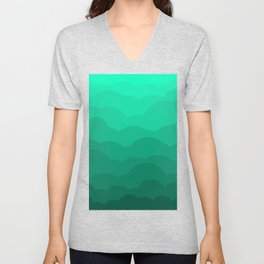 Sage Ombre Clouds Unisex V-Neck