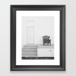 lonely seat Framed Art Print