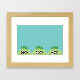three little dinoes Framed Art Print