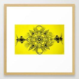 yellow calm Framed Art Print