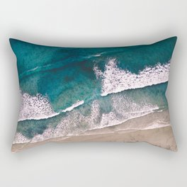 Perfect Beach from Above Rectangular Pillow