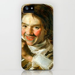 "Frans Hals ""Boy holding a Flute (Hearing)"" iPhone Case"
