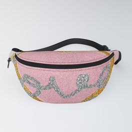 Love // Glitter Typography Calligraphy  Fanny Pack
