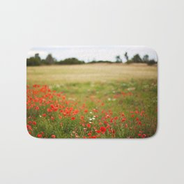 Poppy field. Bath Mat