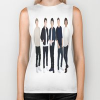 one direction Biker Tanks featuring One Direction by kikabarros